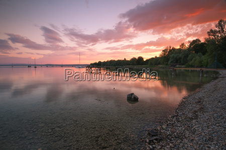 sunset on the ammersee