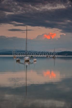 catamaran in the last light