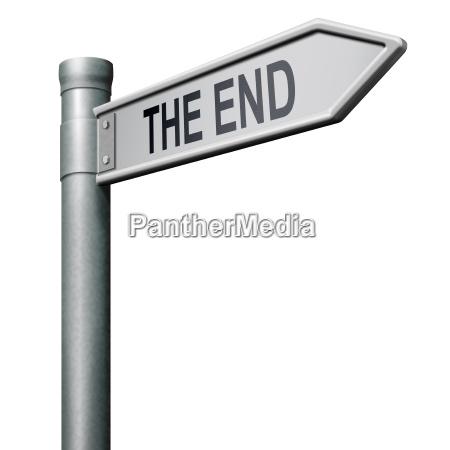 das ende road sign pfeil