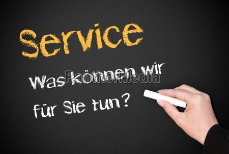 service was koennen wir fuer