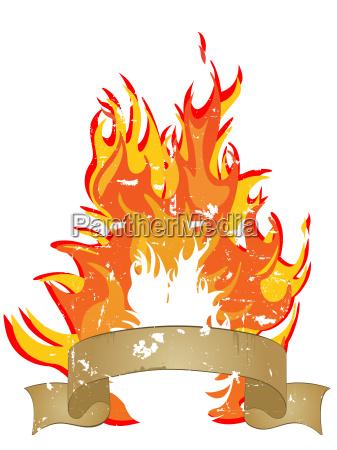 fire flames banner
