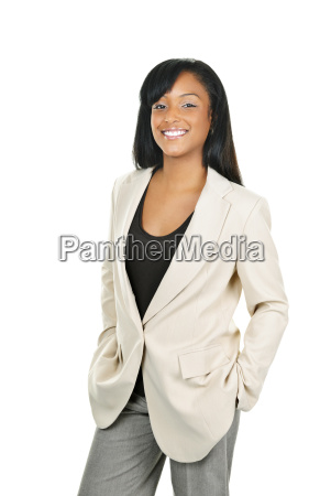 smiling confident black businesswoman