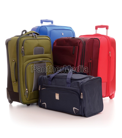 gepaeck bestehend aus grossen koffern isoliert