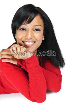 portrait of young black woman smiling