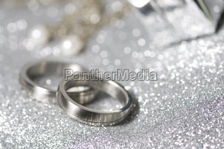 wedding rings in silver