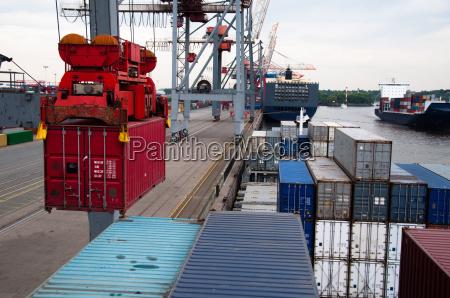 containerschiff ist un geladen