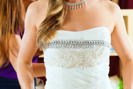 bride at a bridal outfit