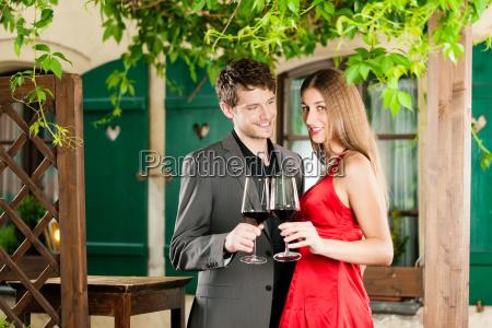 wine tasting in the restaurant
