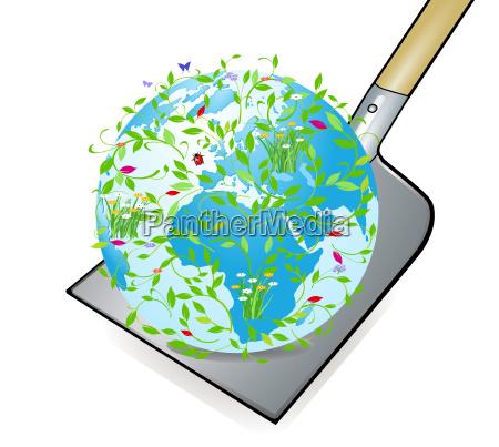 the world on the shovel