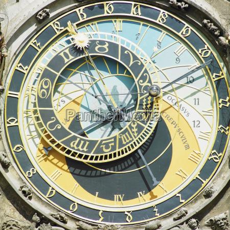 detail der horloge alte rathaus prag