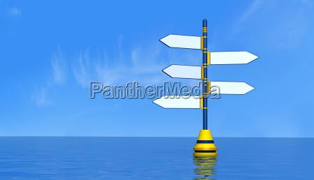 schild signal zeichen maritim wolke wegweiser