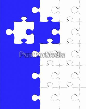 puzzle blue teamwork concept