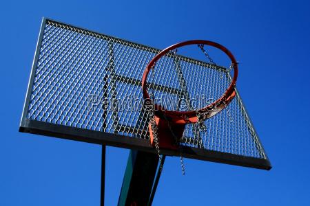 blau korb auf sport basketball korbball