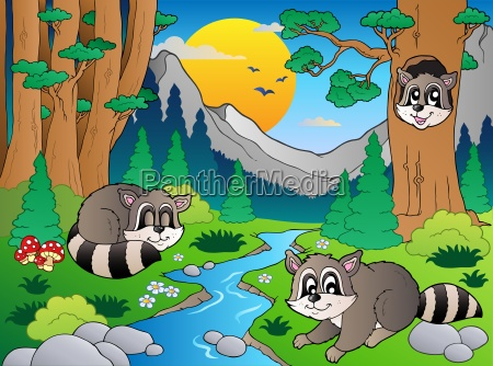 forest scene with various animals 6