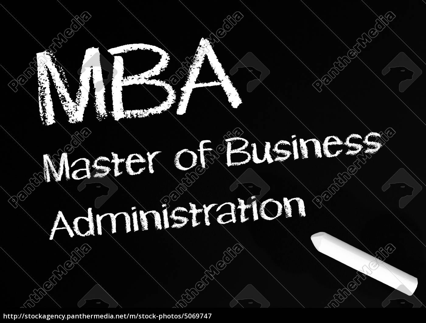 MBA - Master of Business Administration - Lizenzfreies Bild ...