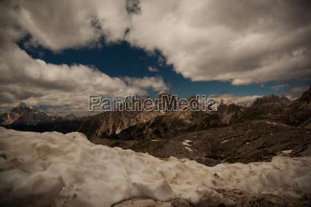 lebensfeindliche alpenlandschaft