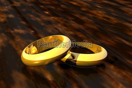 goldene hochzeitsringe
