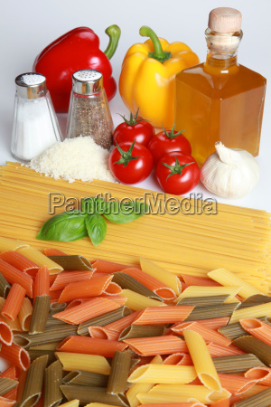 ingredients for a pasta dish