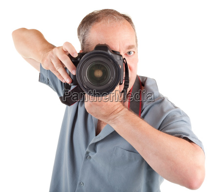 maennlicher fotograf der sie schiesst