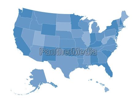 karte der vereinigten staaten