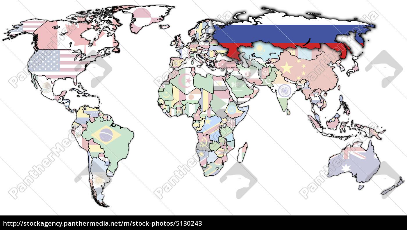 Karte Russland.Stockfoto 5130243 Russland Auf Der Karte Der Welt