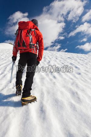bergsteiger allein gletscher