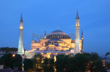 hagia sophia moschee in istanbul tuerkei