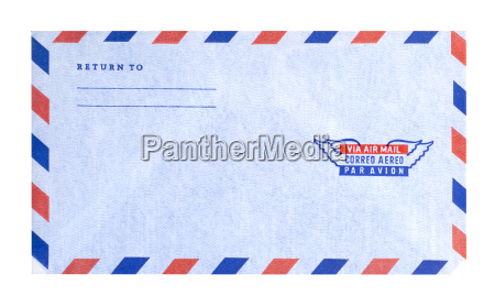 air mail envelope isolated