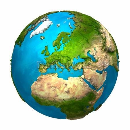 planet erde europa