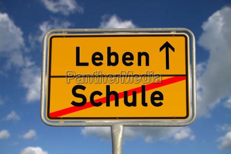 german ortsschild school life