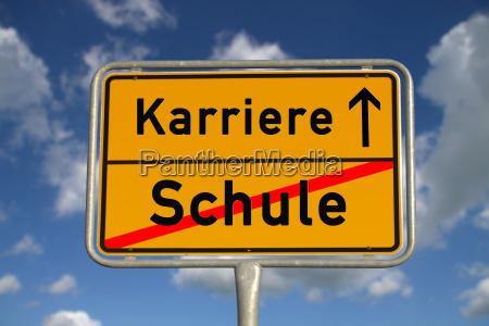 german ortsschild school career