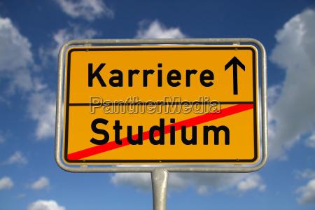 german town sign study career