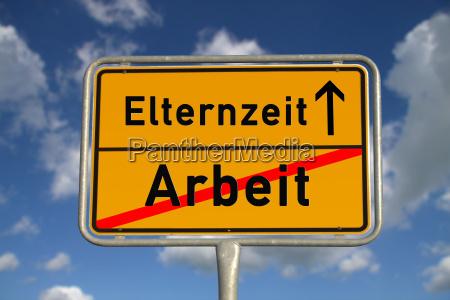 german ortsschild work parental leave