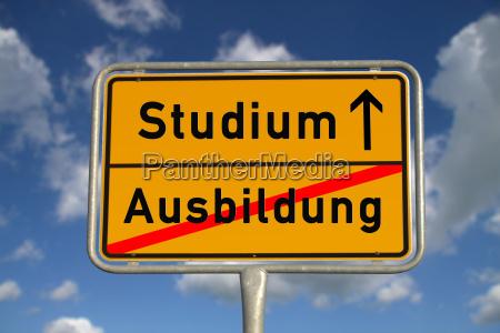 german ortsschild education study