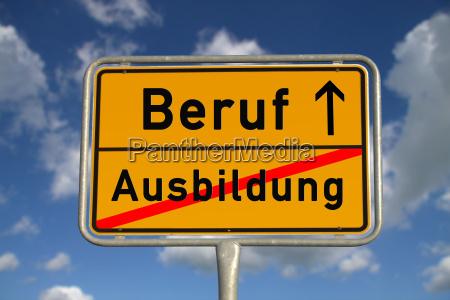 german ortsschild apprenticeship