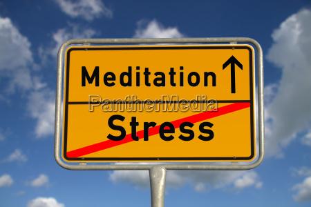 german town sign stress meditation