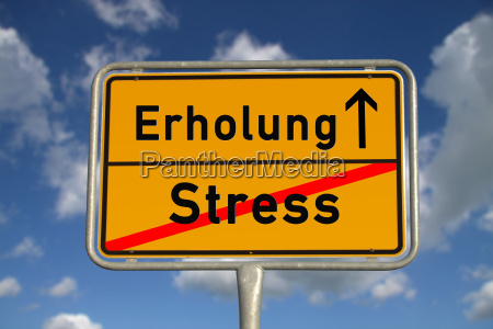 german town sign stress recovery