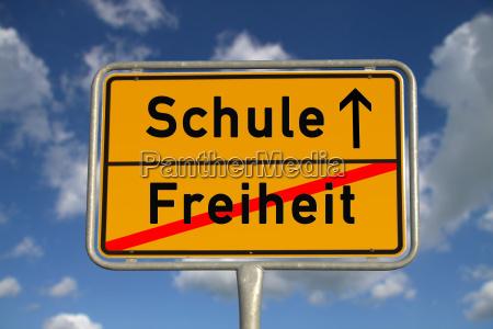 german ortsschild freedom school
