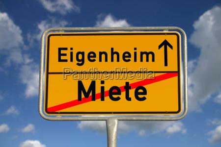 niemiecki znak miasta wynajmij dom