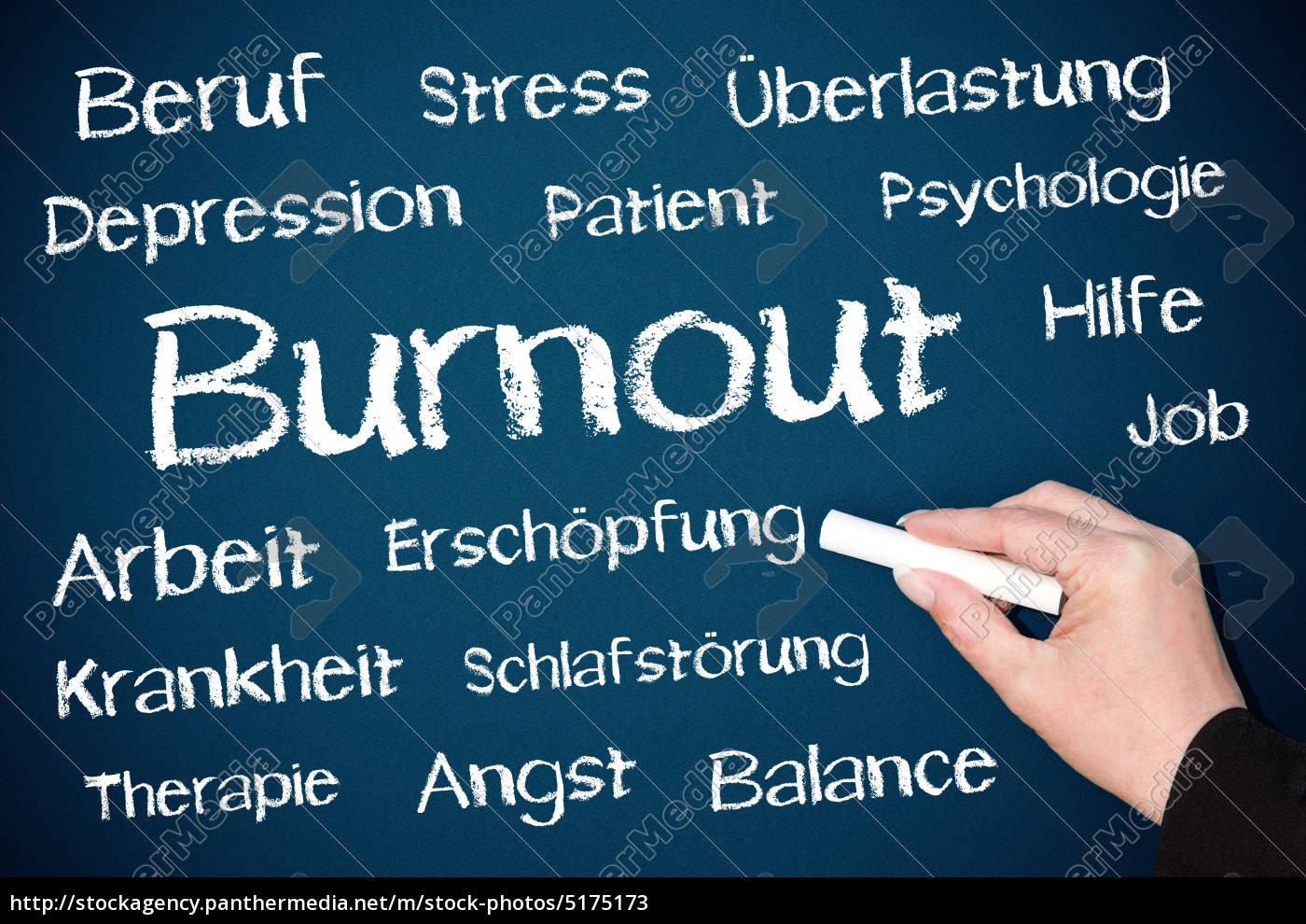 burnout, -, kreide, tafel, blau - 5175173