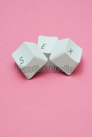 sex ord med tastaturtaster