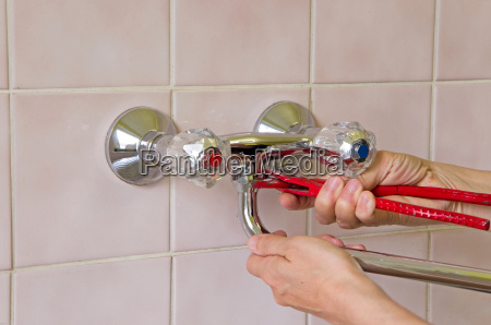 plumber and tap