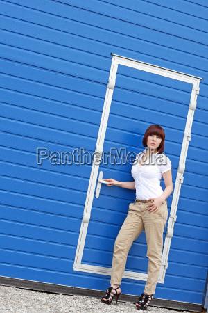 before the blue door