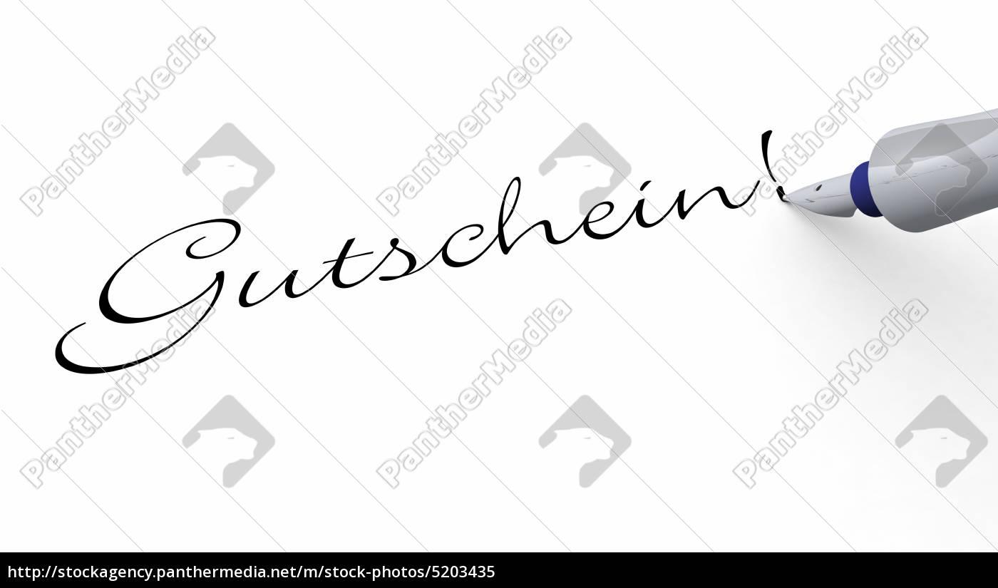 stift, konzept, -, gutschein - 5203435