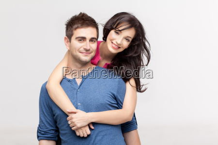 in love couple posing