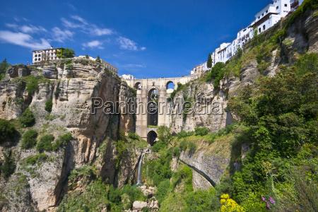 panorama blick von ronda andalusien spanien