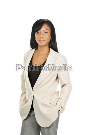 confident black businesswoman