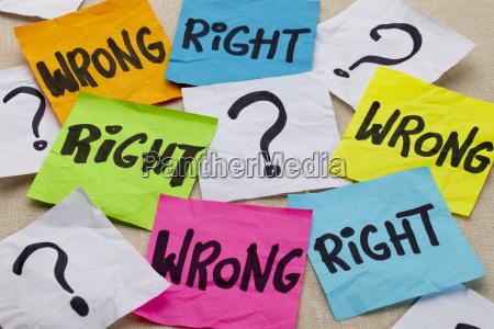 falsche oder richtige ethische frage