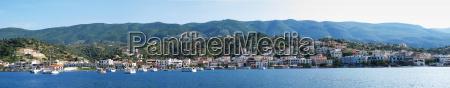 panorama view on galatas greece
