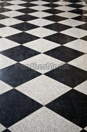 schwarze und weisse marmorboden